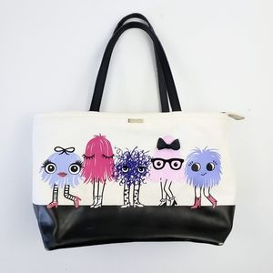 Kate Spade Imagination Monster Party Canvas Tote